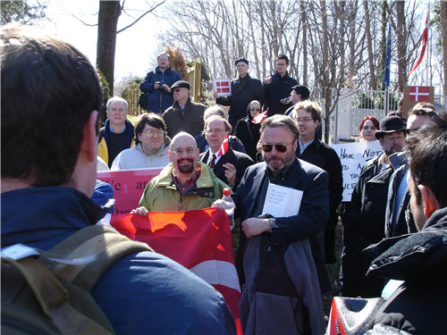 Photo: D.C. Denmark free speech rally Christopher Hitchens