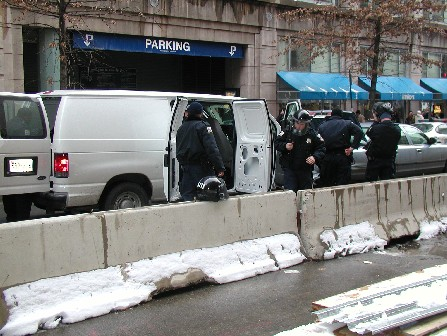 Police Getting Ready at 7th/D NW