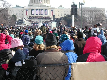 Inauguration crowd from Third St