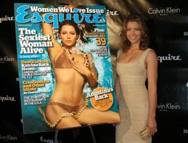 Photo: Jessica Biel arrives for her unveiling as Esquire magazine's 2005 'Sexiest Woman Alive' on Thursday, Oct. 6, 2005, in New York City. (AP Photo/John Smock)