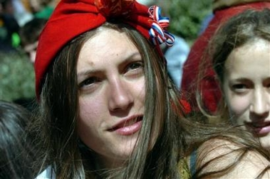 Photo: A young woman dressed as Marianne, symbol of the French Republic, is pictured during a demonstration against the first job contract law, in Toulouse, southwestern France, Tuesday, April 4, 2006. Hundreds of thousands of protesters marched through cities around France on Tuesday, hoping to make their biggest show of strength yet to demand the repeal of a job law that has divided the country. (AP Photo/Remy Gabalda)
