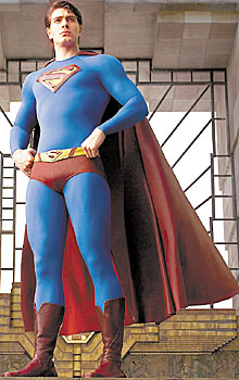Photo Brandon Routh in Superman costume