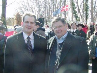 Photo: Mark Tapscott and James Joyner at DC Denmark Rally, 24 FEB 06