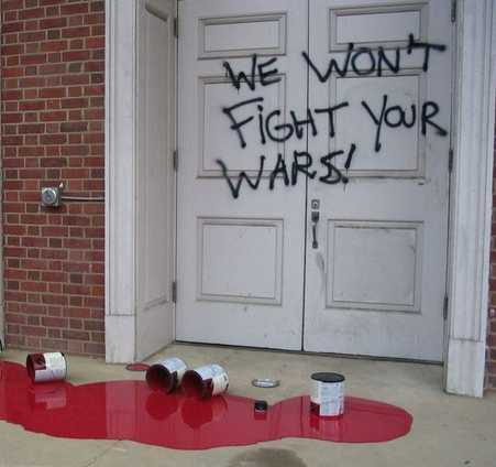 NC State ROTC vandalism photo