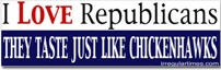 Sticker Republican Chickenhawks
