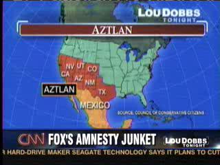 Aztlan Map Lou Dobbs CNN