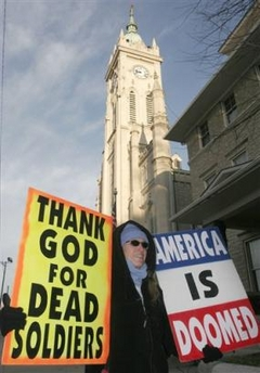 Veteran Funeral Protest Signs