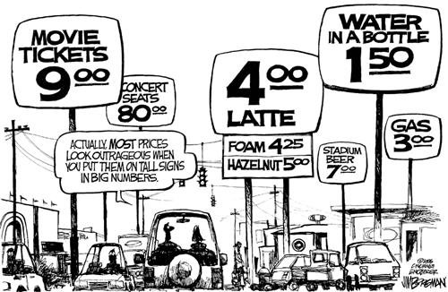 Gas Prices Outrageous Cartoon