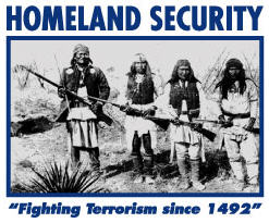 Homeland Security Fighting Terrorism Since 1492 t-shirt logo