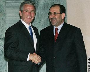 Bush Maliki Handshake Photo