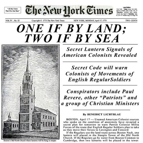 New York Times 1776