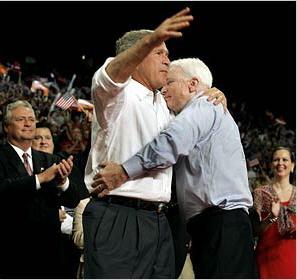 Bush McCain Hug Photo