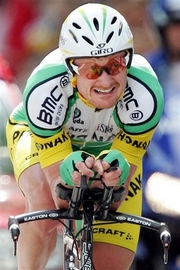 Floyd Landis Doper Floyd Landis of the US checks the clock as he crosses the finish to place second of the 7th stage of the 93rd Tour de France cycling race, a 52-kilometer (32.3-mile) individual time trial between Saint-Gregoire and Rennes, western France, in this Saturday, July 8, 2006 file photo. Tour de France winner Landis failed to show up for a one day race in Denmark on Thursday July 27, 2006 a day after missing a scheduled event in the Netherlands. (AP Photo/Christian Hartmann)