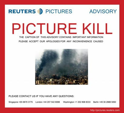 Reuters Recalls Fake Beirut Photo After Exposed by Blogs Announcment