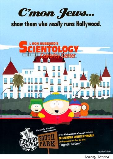 "South Park poster ""C'mon Jews... Show 'Em Who Really Runs Hollywood."""