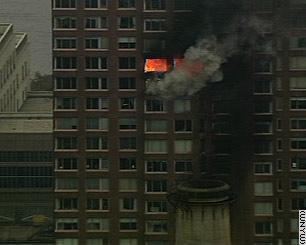 Aircraft Crashes into NYC Building Photo