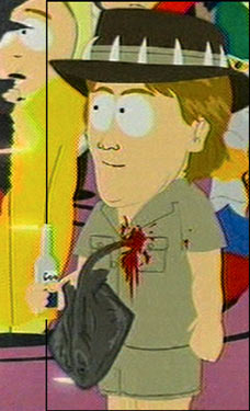 South Park Steve Irwin in Hell Cartoon