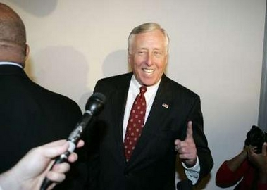 Stenny Hoyer Beats John Murtha, Embarrasses Nancy Pelosi House Democratic Whip Steny Hoyer (D-Md) walks into the House Democratic Caucus Leadership elections on Capitol Hill, November 15, 2006. REUTERS/Larry Downing (UNITED STATES)