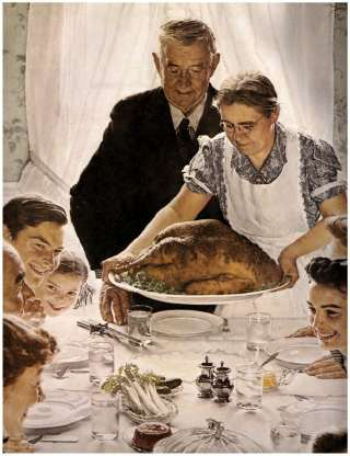 Norman Rockwell Freedom From Want Thanksgiving Poster