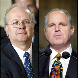 Karl Rove and Rush Limbaugh, Separated at Birth? Photos