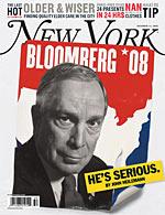 "Bloomberg 2008 New York Magazine Cover ""He's Serious"""