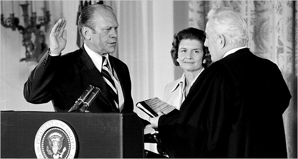 President Gerald Ford Takes Oath of Office