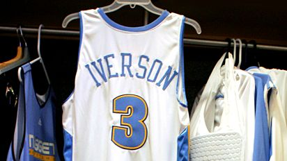 Allen Iverson's Denver Nuggets Jersey Photo