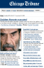 Saddam Executed Chicago Tribune Website Photo