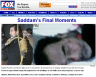 Saddam Executed Fox News Website Photo