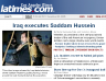 Saddam Executed Los Angeles Times Website Photo
