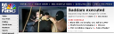 Saddam Executed MSNBC  Website Photo