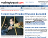 Saddam Executed Washington Post  Website Photo