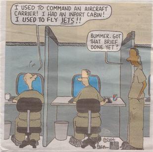 Cartoon on Military Staff Life