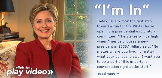 Hillary Clinton Launches 2008 White House Bid