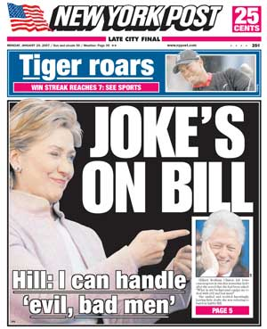 New York Post Hillary Joke Cover