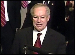 Wayne Allard Photo Sen. Wayne Allard announces his intention to honor his term limits pledge at a news conference Monday.