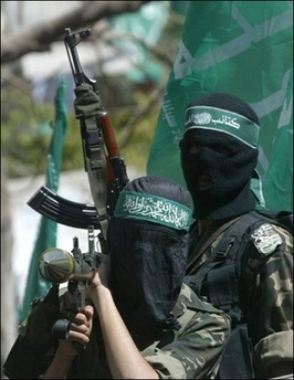 Hamas Militants Photo Hamas militants demand the release of Palestinians being held in Israeli jails during a protest on 20 April 2007. The armed wing of Hamas has declared an end to its five-month truce with Israel as it claimed to have fired dozens of rockets into the Jewish state on its Independence Day.