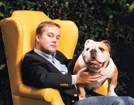 Jason Calacanis with Bulldog Toro by His Side