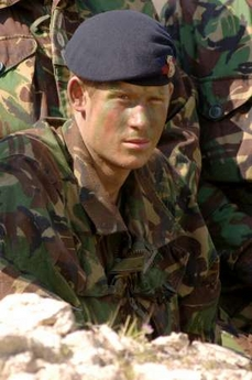 Prince Harry Beret Photo Britain's Prince Harry wears the beret of the Blues and Royals in his final training exercise, Exercise Threshold, in Cyprus March 2006 in this handout released by Ministry of Defence April 11, 2006. Prince Harry will not be sent to serve in Iraq after military commanders decided it would be too dangerous, Britain's Ministry of Defence said on May 16, 2007. REUTERS/Corporal Ian Holding/RLC/MoD/Files/Handout (BRITAIN)
