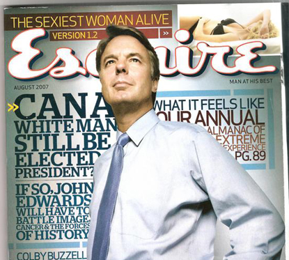 John Edwards Esquire Can a White Man Still be Elected President? Cover