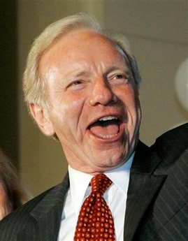 Joe Lieberman May Back Republican in '08 Senator Joseph Lieberman cheers while conceding the democratic primary election to challenger Ned Lamont and announcing that he will run as an independent candidate in front of a crowd of supporters in Hartford, Connecticut, in this August 8, 2006 file photo. Lieberman, an independent who supports Democrats in Congress despite his backing of the Iraq war, said on Thursday he was not ruling out endorsing a Republican in the White House race. (Brian Snyder/Files/Reuters)