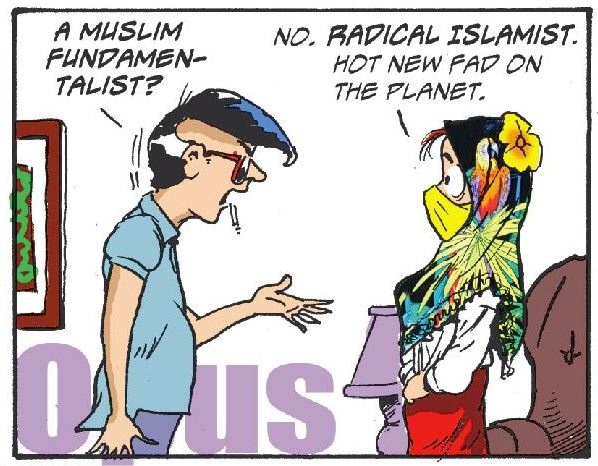 Pogo Banned Muslim Strip 26 AUG 07 Single Panel