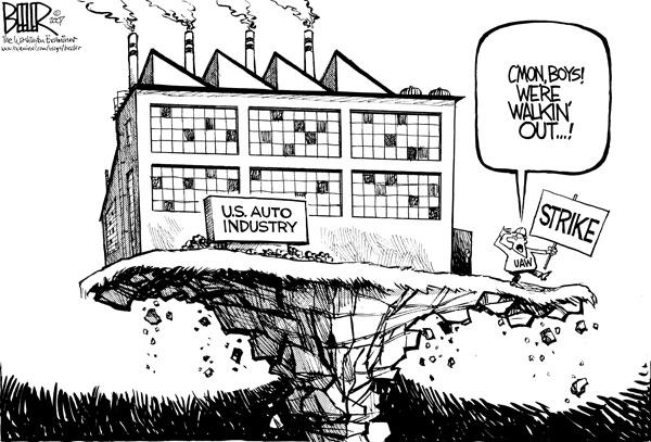 GM Strike Editorial Cartoon (Beeler)
