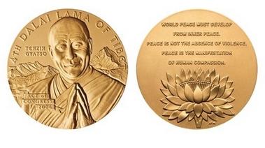 China Protests Dalai Lama Gold Medal