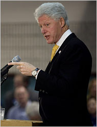 Bill Clinton Says He Opposed Iraq War from Start David Lienemann/ Associated Press Former President Bill Clinton spoke Tuesday in Muscatine, Iowa, on behalf of his wife.