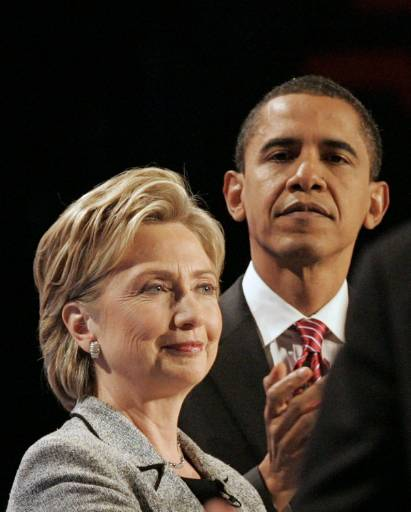 Hillary Clinton and Barack Obama Photo