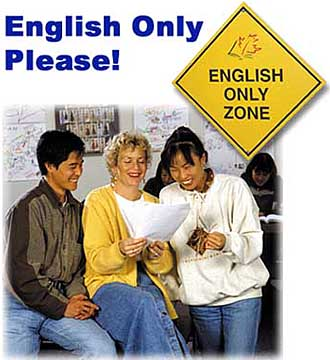 English Only Zone Sign