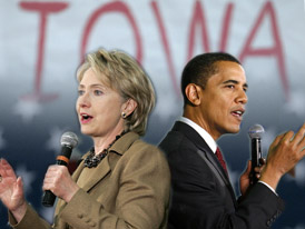 Hillary Clinton and Barack Obama Photo