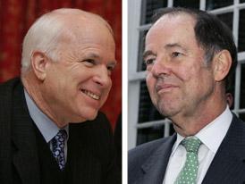Tom Kean Endorsing John McCain Photo