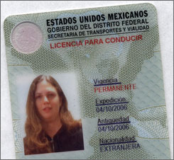 Mexico and Driver's Licenses